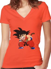 Dragonball - Goku Women's Fitted V-Neck T-Shirt