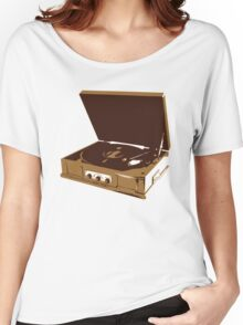 Old School Record Player Women's Relaxed Fit T-Shirt