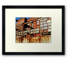 Rusty Building in Cincinnati Framed Print