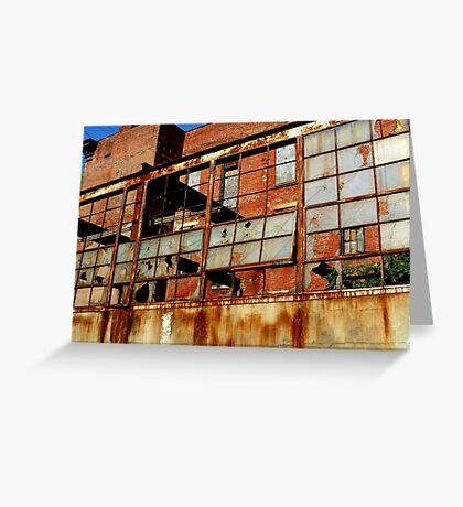Rusty Building in Cincinnati Greeting Card