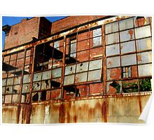 Rusty Building in Cincinnati Poster