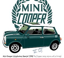 Classic 1990 Mini Cooper Special green by car2oonz