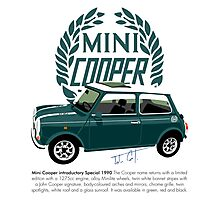 Classic 1990 Mini Cooper Special green Photographic Print