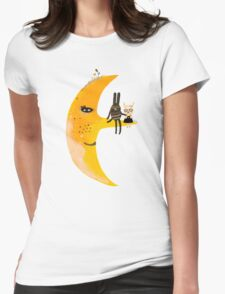 We and mr. Moon Womens Fitted T-Shirt