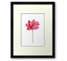 Lotus Abstract Flower Watercolor Meditation Yoga Illustration Poster Framed Print
