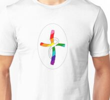 In God We Trust Cross with LGBT colors Unisex T-Shirt