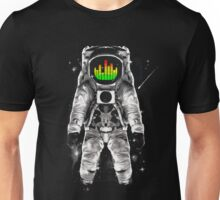 music astronaut in galaxy Unisex T-Shirt