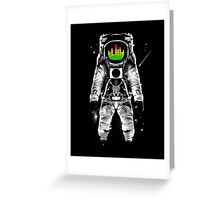 music astronaut in galaxy Greeting Card