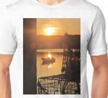 Cape Porpoise Boats, Lobster Traps at Sunset Unisex T-Shirt