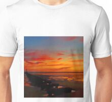 Crosby Beach at Sunset Unisex T-Shirt