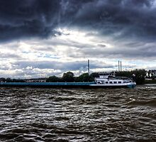 Barge in the Storm by Tom Gomez
