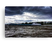 Barge in the Storm Canvas Print