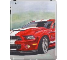 Fire engine red cobra hotrod iPad Case/Skin
