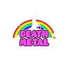 unicorn death metal over rainbow Photographic Print