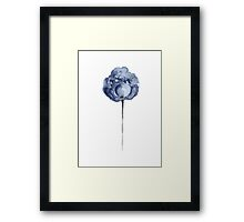 Peony Floral Watercolor Painting Baby Boy Shower Gift Framed Print