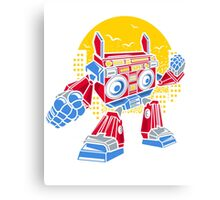 Boom Box Robot Canvas Print