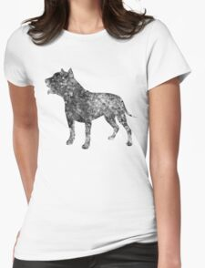 Pit Bull Dog Watercolor Art Womens Fitted T-Shirt