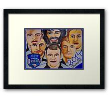 Blues Champions Origin 2014  Framed Print