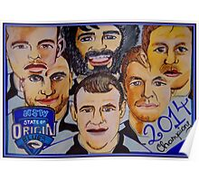 Blues Champions Origin 2014  Poster