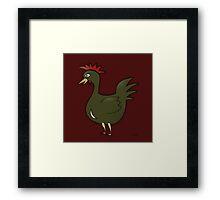 Green Chicken Framed Print