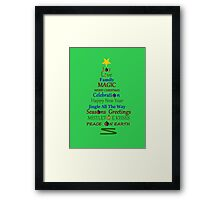 Holiday Tree - Green Framed Print