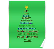 Holiday Tree - Green Poster