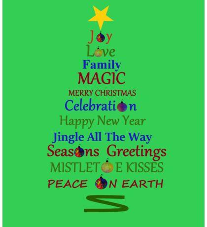Holiday Tree - Green Sticker
