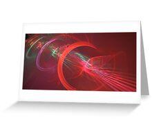 Red Turbine Greeting Card