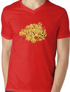 Emoticon  Mens V-Neck T-Shirt