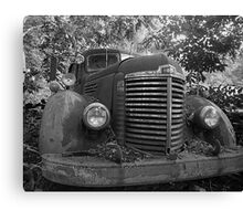 Abandoned Fire Truck Canvas Print