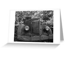 Abandoned Fire Truck Greeting Card