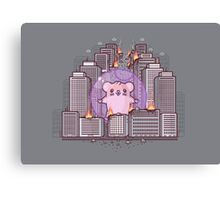 Giant bloody hamster Canvas Print