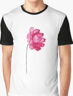 Peony Kids Room Poster Abstract Illustration Raspberry Decor Graphic T-Shirt