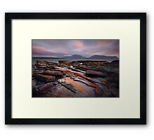 Island of Hoy, Sunset . From Warebeth. West Mainland Orkney Isles. Framed Print