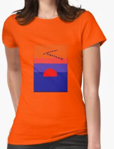 Fly Into The Sunset Womens Fitted T-Shirt