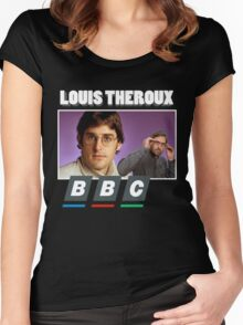 Louis Theroux Print Women's Fitted Scoop T-Shirt