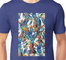 Colorful Lobster Collage Art - Sharon Cummings Unisex T-Shirt