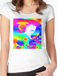 Abstract Color Dream Women's Fitted Scoop T-Shirt