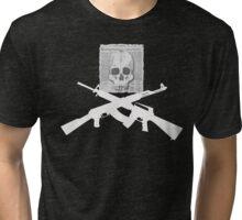 Skull and Crossbone Guns Tri-blend T-Shirt