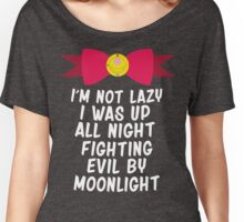 Fighting Evil By Moonlight Women's Relaxed Fit T-Shirt