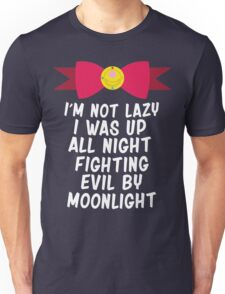 Fighting Evil By Moonlight Unisex T-Shirt