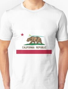 California Flag Surf Bear with Surfboard Unisex T-Shirt