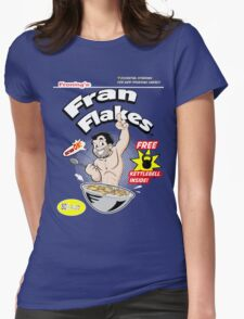 Fran Flakes Womens Fitted T-Shirt