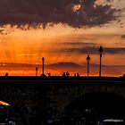Sunset on the Seine by martinilogic