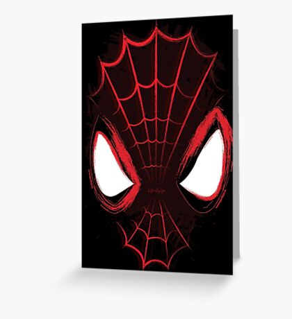 The Web has Eyes Greeting Card