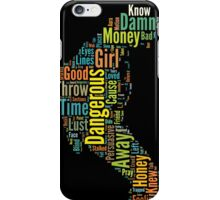 Michael Jackson Typography Poster Dangerous iPhone Case/Skin