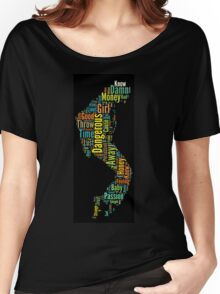 Michael Jackson Typography Poster Dangerous Women's Relaxed Fit T-Shirt