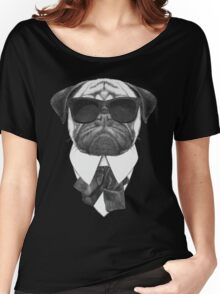 Pug In Black Women's Relaxed Fit T-Shirt