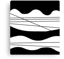 Black and white abstract art Canvas Print
