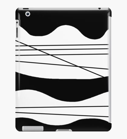 Black and white abstract art iPad Case/Skin